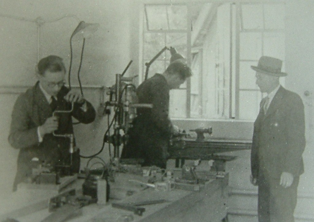 Grey Walter operating a lathe - BNI 1939