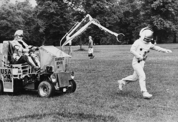 Science Fiction Movie Scene At The Hyde Park In London On July 1979