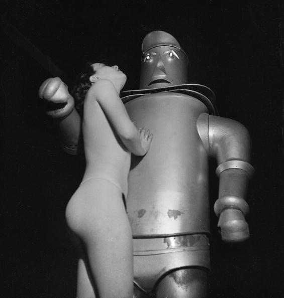 Woman and a robot. France, about 1935.