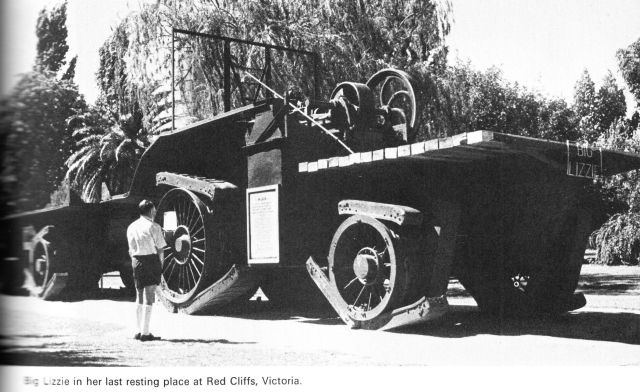 big lizzie red cliffs x640 1912   Dreadnought Wheel and Big Lizzie   Frank Bottrill (Australian)