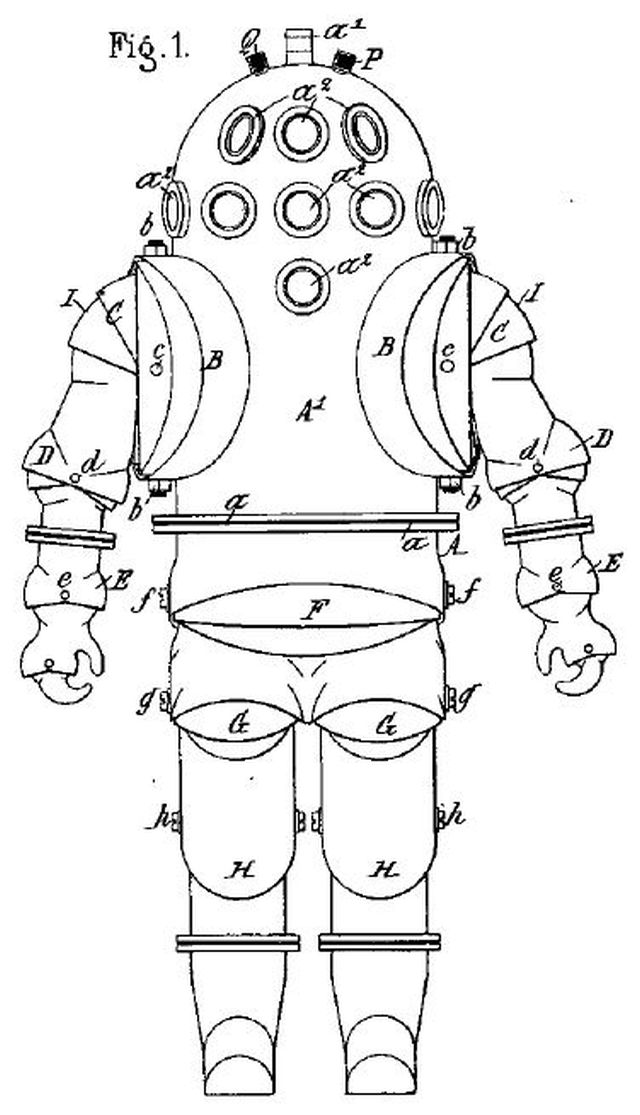 carmagnolle pat FR339030 f1 x640 1878   Diving Suit   Carmagnolle Bros. (French)