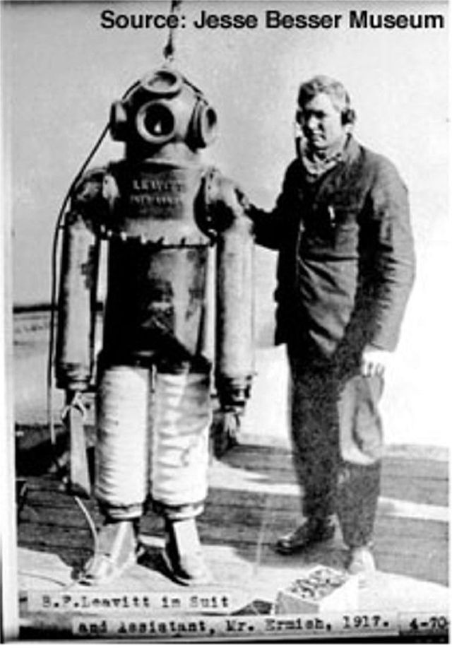 Leavitt dive suit 1917 x640 1917   Diving Armor Suit   Benjamin Franklin Leavitt (American)