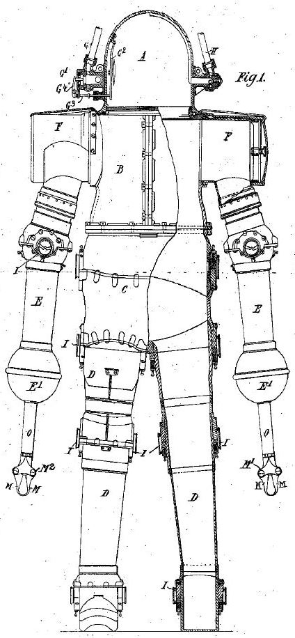 day dive suit pat suit 1897   Diving Apparatus   John and George Day (British)