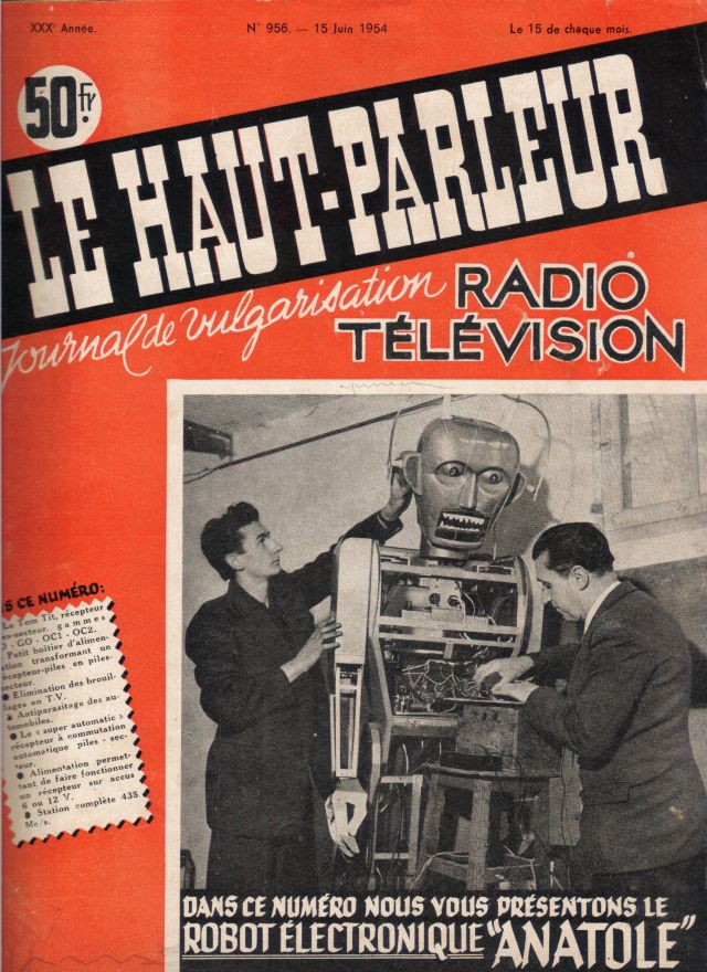 Anatole 15June1954p1 x640 1948   Anatole the Robot (nee Marsulus and Gustave)   M. Koralek / Jean Dusailly (French)