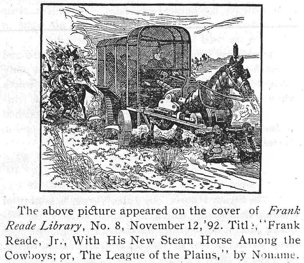 BloodandThunderMar1933 Steam Horse 1892 1868 1904   Fictional Steam Man, Steam Horse, Electric Man & Electric Horse (American)