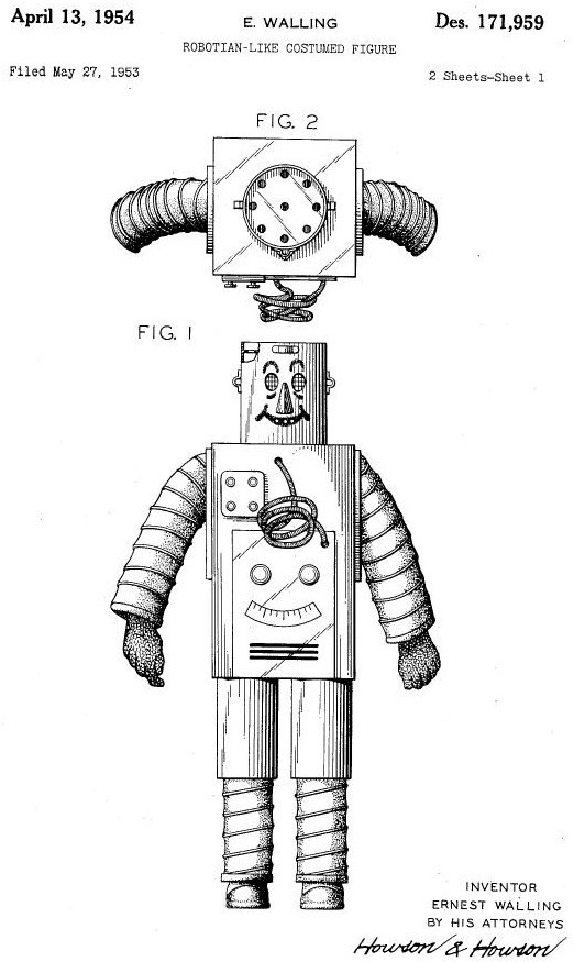 D171959 ROBOTIAN LIKE COSTUMED FIGURE0000 x640 1953   Westinghouse Robotian like Costume Figure   Ernest Walling (American)
