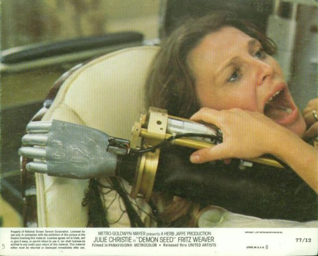 Demon seed movie poster x640 1977   Joshua the wheelchair Robot from Demon Seed   (American)