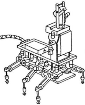 1977   IPM Six Legged Walker with Laser Scanning   Okhotsimski et al (Soviet)