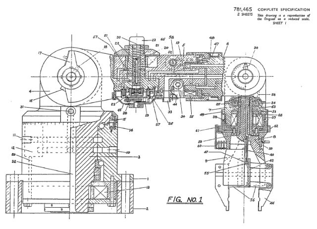Kenward robot pat 2 x640 1954, March – Positioning or Manipulating Apparatus patent by Cyril Kenward (British)
