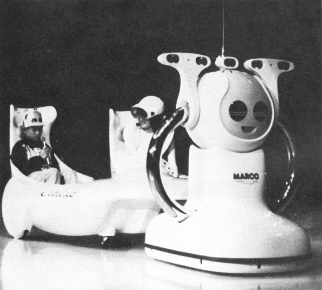 Marco cart colani x640 1985   Marco and the Fuyo Robot Theater Expo85   Automax (Japanese)
