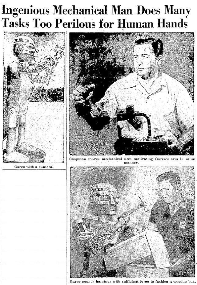 NewarkAdvocate11May1954 pic x640 1953   GARCO   Harvey G. Chapman Jr. (American)