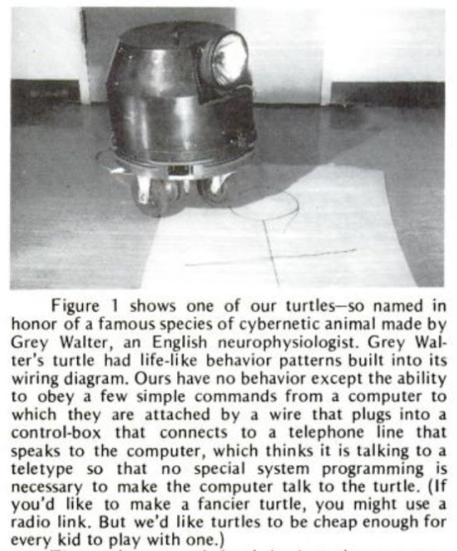 Papert Turtle x640 1969   The Logo Turtle   Seymour Papert et al (Sth African/American)