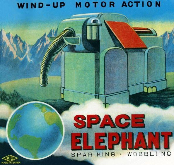 Space elephant x640 Mechanical Elephants   Toys and Automata