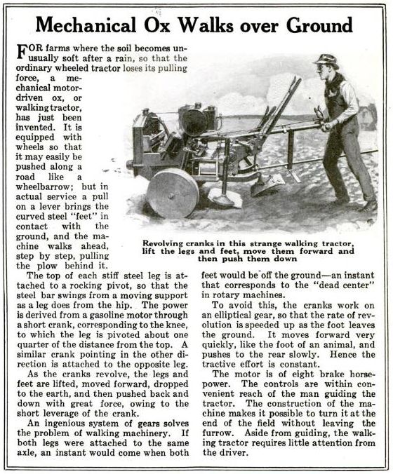 1922   Mechanical Ox (Walking Tractor)   (American)