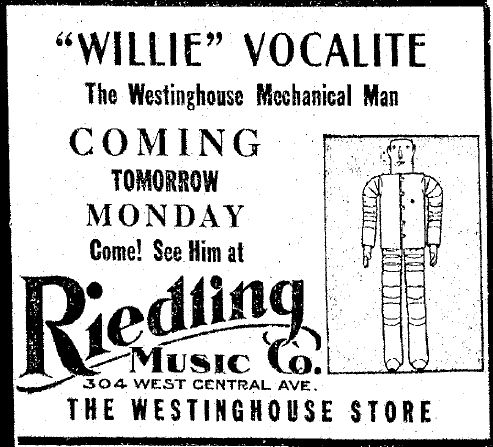 Willie1932ad x640 1931   Willie Vocalite   Joseph M. Barnett (American)