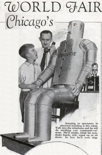 chicago fair westinghouse robot x640   Copy 1931   Willie Vocalite   Joseph M. Barnett (American)