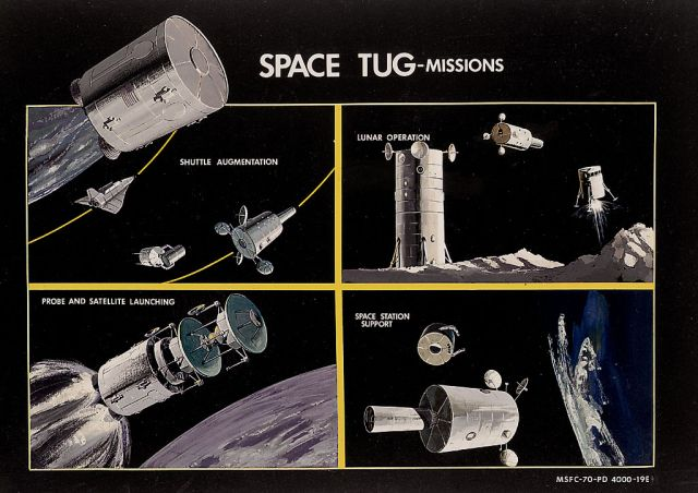 Space tug missions x640 1970   Space Tug (Concept)   MSFC/Boeing (American)