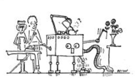 Thring domestic robot cartoon x531 1962   Table Clearing Robot   Meredith Thring (Australian/British)