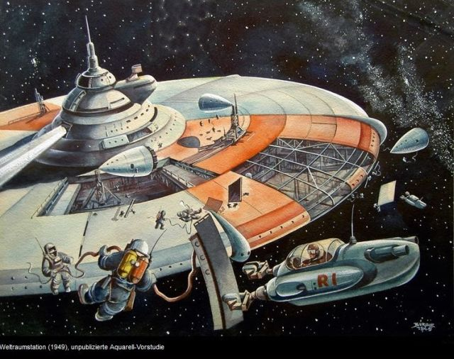 buergle 1949 x640 1949   Space Tug (Illustration)   Klaus Bürgle (German)