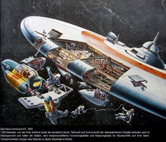 buergle 1950 x640 1949   Space Tug (Illustration)   Klaus Bürgle (German)