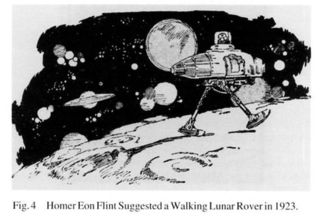 flint walking lunar rover 1923 x640 1923   Walking Lunar Rover (Science Fiction)   Homer Eon Flint (American)