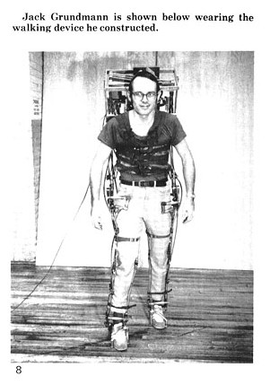 grundmann exo 1 1971   A computer controlled multi task powered exoskeleton for paraplegic patients   Jack George Grundmann / Ali Seireg (American)