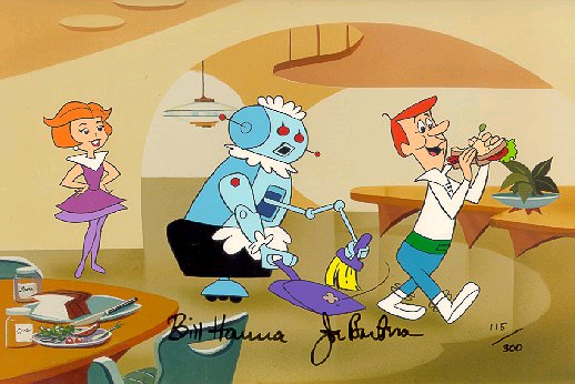 jetsons rosie sweeping 1962 3   The Jetsons Automatic Vacuum Cleaner   Hanna Barbera (American)
