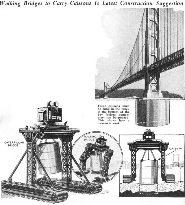 robot walking bridge 1933 5 x640 1933   Giant Walking Bridge   M. Clemients (French)