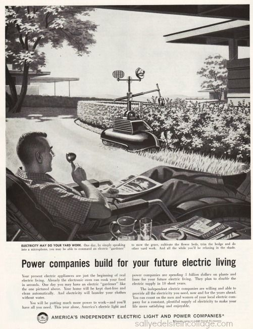 suburbs vox mower 1958 x640 1958   Voice controlled Lawn Mower   Concept (American)