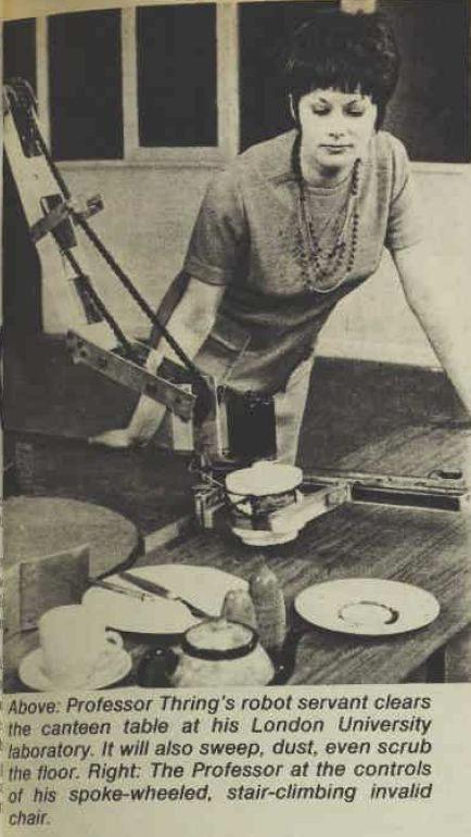 thring WoWe9may73 a x434 1962   Table Clearing Robot   Meredith Thring (Australian/British)