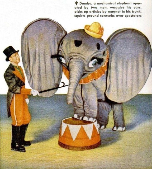 ice elephant PMmar1947 p108 x640 Mechanical Elephants   Miscellaneous Material