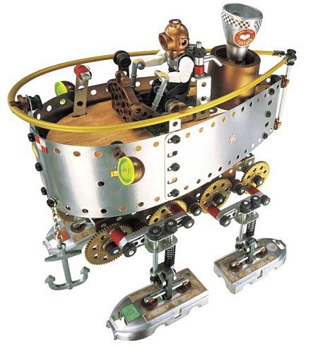 meccano crazy inventors steam boat x640 More Meccano Walking Machines & Robots