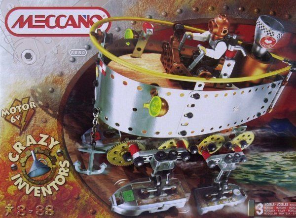 meccano steamboat box x640 More Meccano Walking Machines & Robots