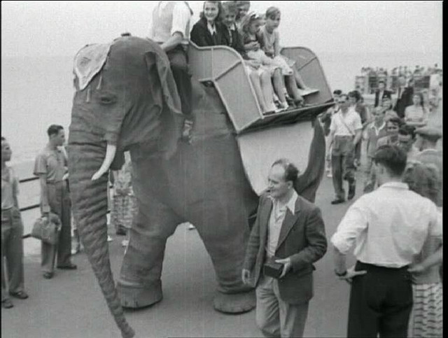 mech elephant margate 1 1949 50   Mechanical Elephant   Frank Stuart (British)
