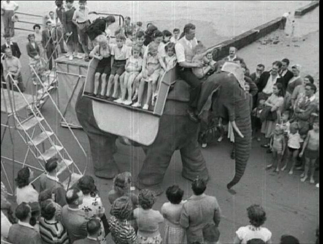 mech elephant margate 2 1949 50   Mechanical Elephant   Frank Stuart (British)