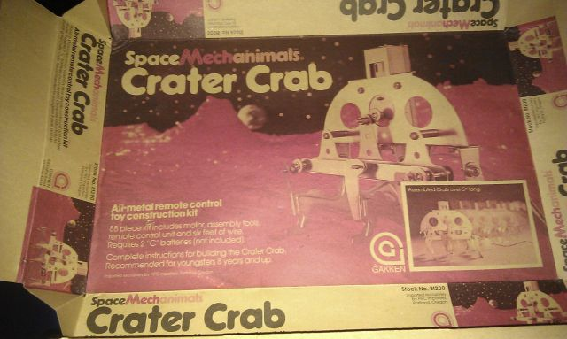 mechamimals crater crab box x640 1968   Mechanimals Walking Models   Masahiro Mori and Ryuichi Tomiya (Japanese)