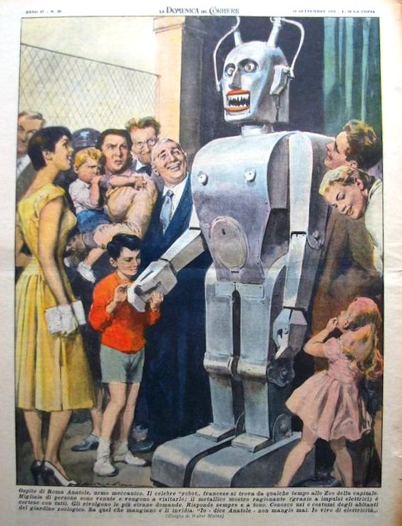 robot anatole domenica del corriere18set1955n38 fix 1947   Anatole the Robot (nee Marsulus and Gustave)   M. Koralek / Jean Dussailly (French)